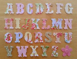 vintage style iron on fabric letters 3cm uppercase appliques With iron on fabric letters