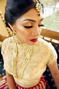 indian bridal makeup, bridal makeup, red lips, wing liner ...