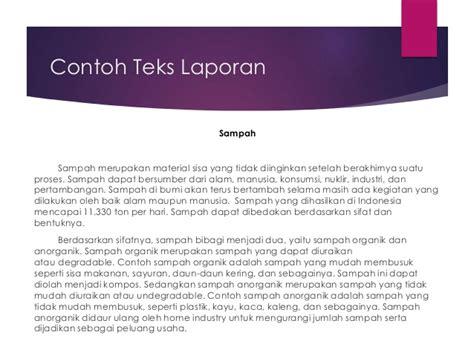 teks laporan hasil observasi bahasa indonesia