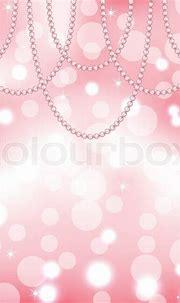 Sød lyserød baggrund med perler | Stock vektor | Colourbox