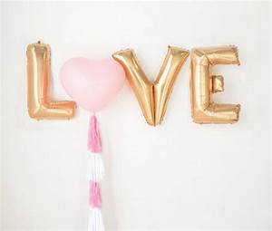 giant love balloons foil letters and latex heart and a With latex letter balloons