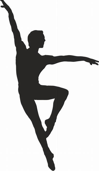 Dancer Silhouette Clipart Ballet Male Dance Modern