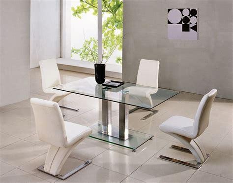 savio small rectangular glass chrome dining table