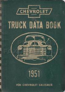 1951 Chevrolet Truck Engineering Features Manual Reprint
