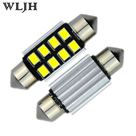 wljh 10x c5w 36mm canbus error free led light for samsung led chip 2835smd license number plate