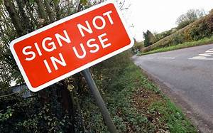 Pointless road signs should be removed