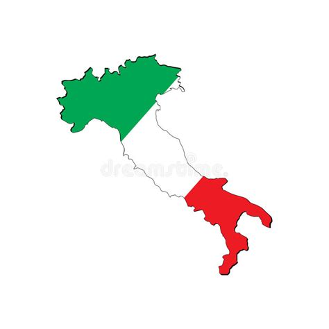 italy map flag stock vector high resolution italy map with country flag stock vector ital