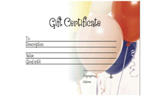 gift certificate templates printable gift certificates