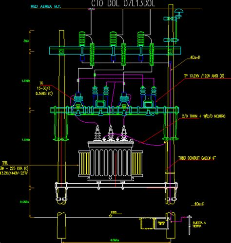 electric transformer   dwg block  autocad