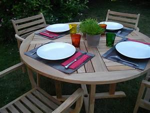 Petite Table De Jardin : petite table de jardin ronde ~ Dailycaller-alerts.com Idées de Décoration