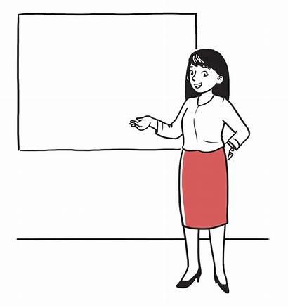 Whiteboard Presentation Animation Presenting Business Presentations Woman
