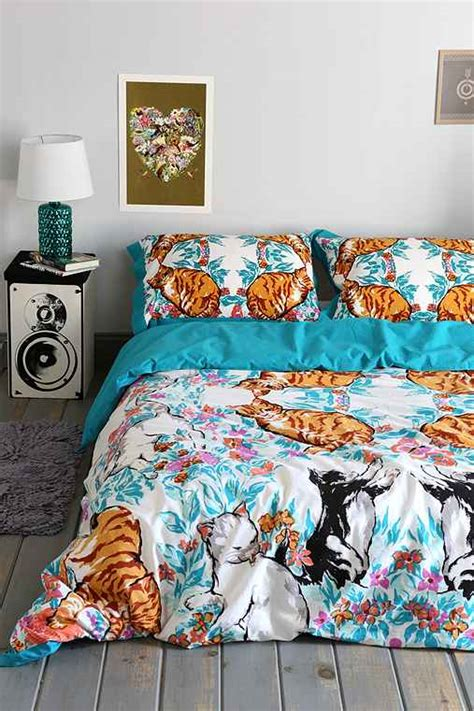 cat duvet cover plum bow cat kaleidoscope duvet cover outfitters
