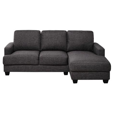canapé angle 3 places canapé d 39 angle droit 3 4 places en tissu gris chiné