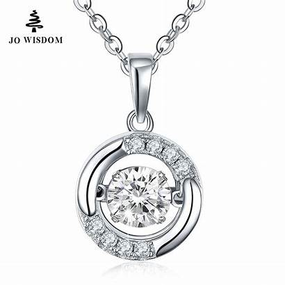 Silver Sterling Jewelry 925 Necklace Pendant Diamond