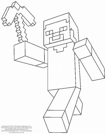 Minecraft Coloring Pages Printable Colouring Template Templates