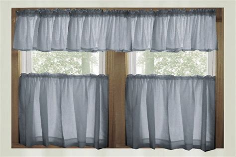 Blue Kitchen Valance by Wedgewood Blue Color Tier Kitchen Curtain Two Panel Set