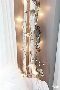 10 Minute Winter Decorating with Birch Poles - Setting for