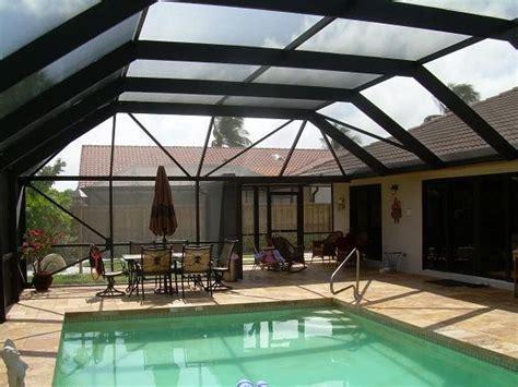 pool enclosures aluminum insulated roof tropical