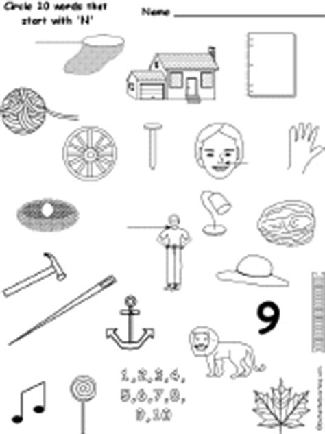 things that start with the letter n letter n alphabet activities at enchantedlearning 25259