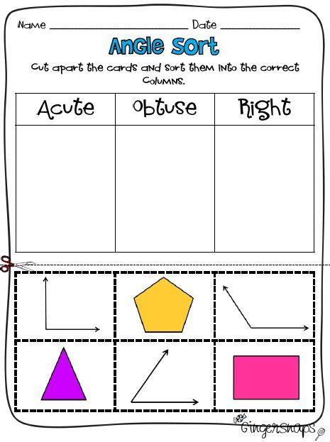 Worksheets Acute Obtuse And Right Angles Worksheets Opossumsoft Worksheets And Printables