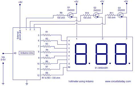 voltmeter using arduino arduino project
