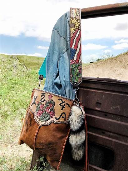Cowhide Western Handmade Purse Purses Leather Handbags