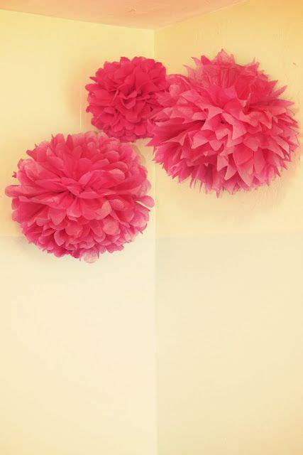 super easy quick diy tissue paper puff balls