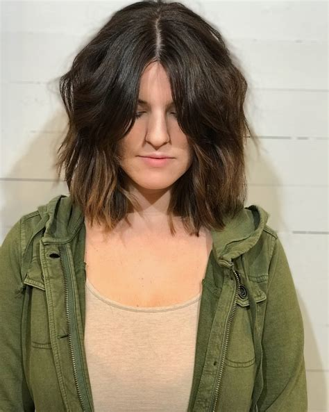 middle part hairstyles   flattering