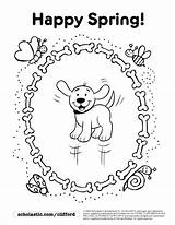 Coloring Goosebumps Pages Spring Printable Happy Sheets Horrorland Clifford Dog Puppy Getcolorings Flowers Scholastic sketch template