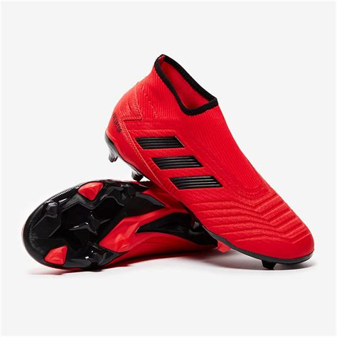 adidas predator  laceless fg active redcore black firm ground mens boots