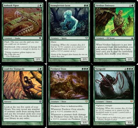 Aggro Zoo Deck Mtg by Mtg Realm Standard Mono Green Aggro