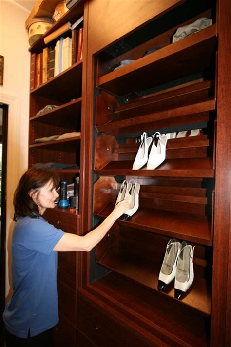motorized shoe carousel traditional closet