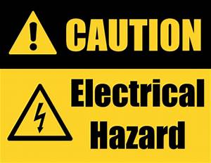 An electrical hazard caution sign. Download printable ...