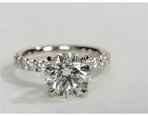 3 carat diamond scalloped pave diamond engagement ring With 3 carat wedding rings