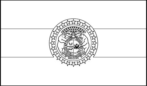 Missouri Flag Coloring Sheet Coloring Pages