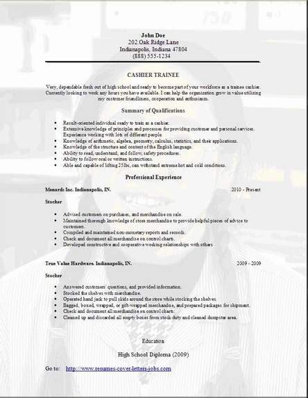 trainee resume occupationalexamples samples  edit