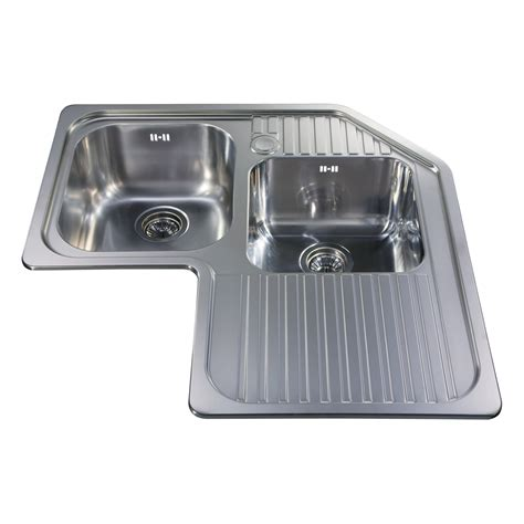 stainless steel undermount corner sink ccp3ss stainless steel corner double bowl sink cda