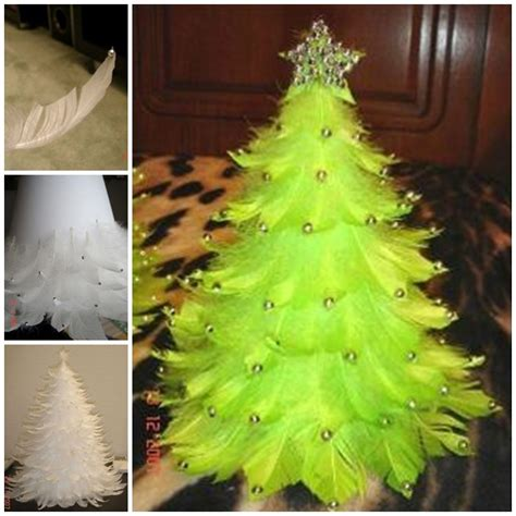 the perfect diy unique feather christmas tree the