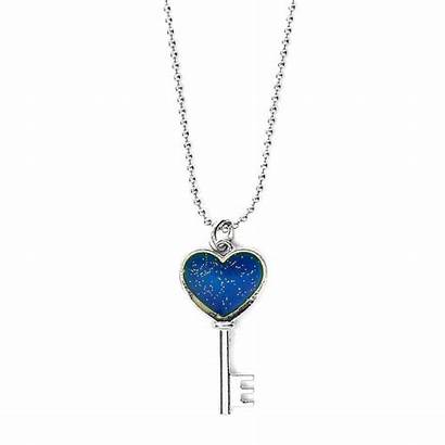 Necklace Mood Key Heart Pendant Claires Footprint