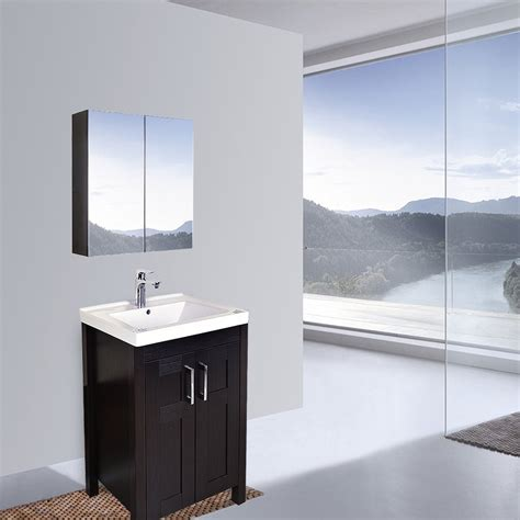 Wide Mirrored Bathroom Cabinet by Elecwish 24 Quot Wide Wall Mount Mirrored Bathroom Medicine