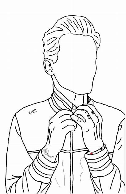Outline Drawing Onedirection Louistomlinson Picsart