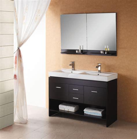 modern double sink wall mount bathroom vanity
