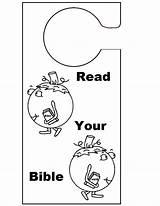 Knob Door Hanger Bible Coloring Read Pages Crafts Sunday Doorknob Pumpkin Hangers Template sketch template