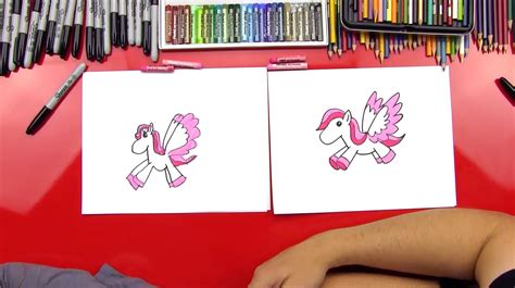 draw  cartoon pegasus art  kids hub
