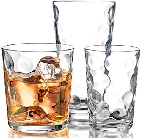 Kitchen Juice Glasses glasses kitchen glassware mix set of 12 clear