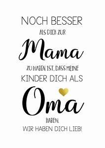 überraschung Für Werdende Großeltern : spruch poster zum muttertag f r mama und oma poster as a mother 39 s day gift family saying ~ Frokenaadalensverden.com Haus und Dekorationen