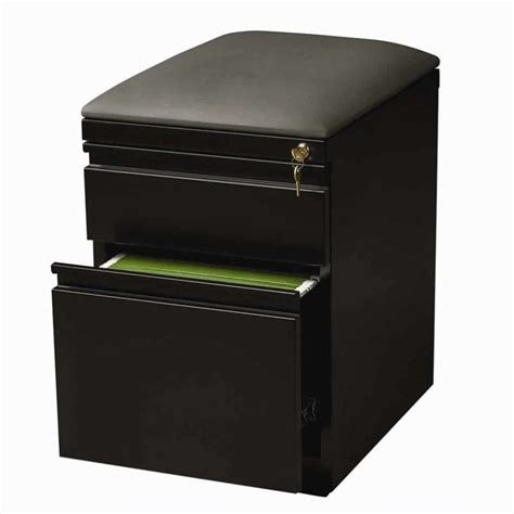 file cabinet bench seat hirsh industries mobile seat box file black filing cabinet