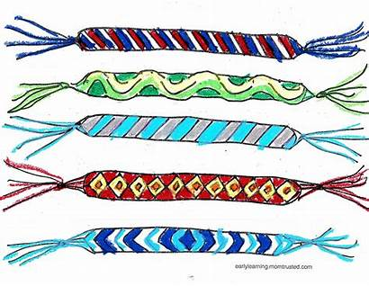 Printable Friendship Bracelet Coloring Preschool Activities Birthday