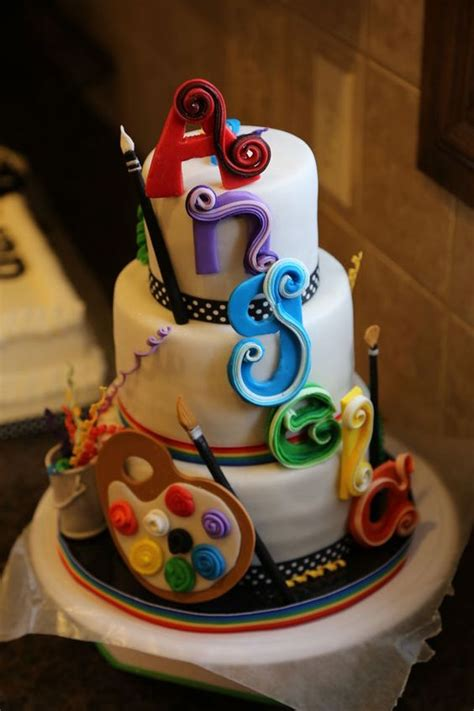 cool art themed cakes  inspire