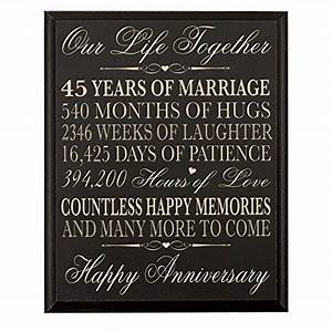 45th wedding anniversary wall plaque gifts for couple 45th With 45th wedding anniversary gift